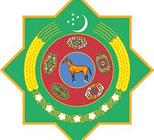 Turkmenistan National Emblem  by abbeyz71