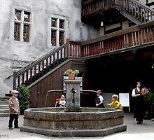 A Fortress Courtyard by Ellanita
