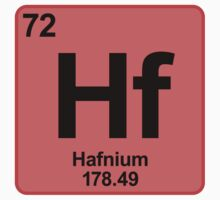 Element Hf Hafnium by SignShop
