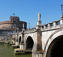 Saint Angelo Bridge Rome by jwwallace