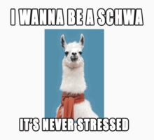 I wanna be a schwa:  It's never stressed. by lldsasec