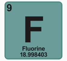 Element F Fluorine by SignShop