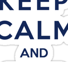 Keep Calm And Time Travel (Color Version) Sticker