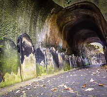 Gravestone tunnel by Beverley Goodwin