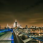 St pauls and the Millenium bridge by Ian Hufton