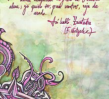 Illustrated quote (Spanish), Nietzsche by misscristal