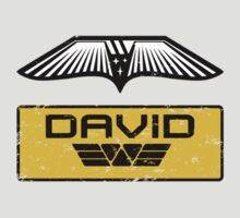 Prometheus David - Patch and Wings (Android) - Weyland Logo by James Ferguson - Darkinc1