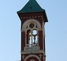 Bell Tower - St. Mary's Historical Church by John Schneider