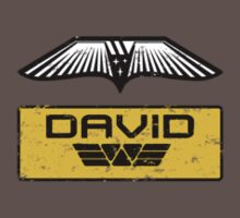 Prometheus David - Patch and Wings (Android) - Weyland Logo (SIDE) by James Ferguson - Darkinc1