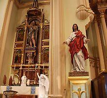 Altar of St. John the Baptist, Sacred Heart - St. Mary's Historical Church by John Schneider