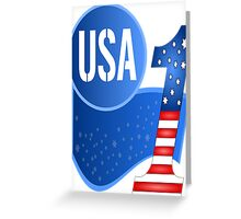 USA Flag Design with No.1 in the World  Greeting Card