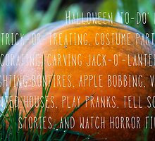 Halloween list by Emma Harckham