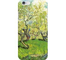 Orchard in Blossom. Vintage floral garden oil painting by Vincent van Gogh. iPhone Case/Skin