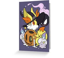 A Ghastly Conjuring  Greeting Card