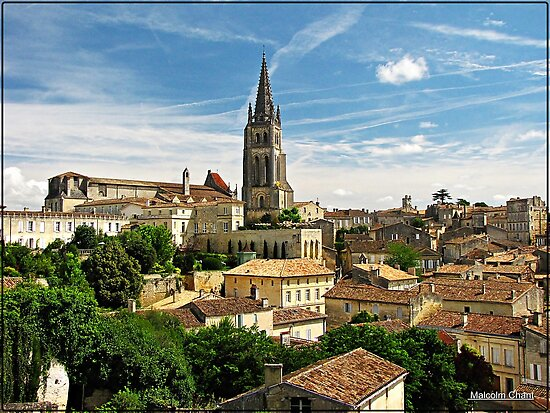 """Across the rooftops of St Emilion"" by Malcolm Chant"