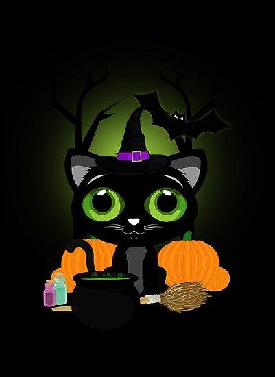 Black Kitten Witch 3 by Adamzworld