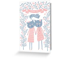 THANK YOU SO MUCH, KITTY FRIENDS Greeting Card