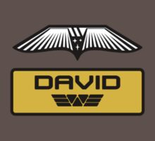 Prometheus David - Patch and Wings (Android) - Weyland Logo (CLEAN NEW LOOK SIDE) by James Ferguson - Darkinc1