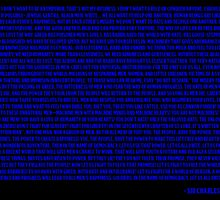 Charlie Chaplin - The Great Dictator Speech Blue by nicolopicus7