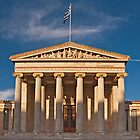 Academy of Athens at sunset by Konstantinos Arvanitopoulos
