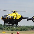 Police Whirlybird by Barrie Woodward
