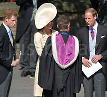Harry, Kate, & William Leave Mike and Zara's Wedding by justbmac