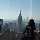 Photographing New York City from Above, Top of the Rock Observation Deck, New York City by lenspiro