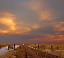 Pastel Sunset on the Plains by Photopa