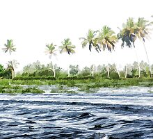 Water rippling in the coastal lagoon by ashishagarwal74