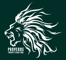 Proverbs 28:1 Ragnar Supporters Lion Raw White by keirstenmachine