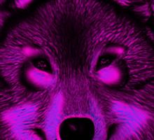 Pink wolf Sticker