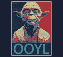 Star Wars Inspired - YODA - Only Once You Live - YOLO - Pop Art Yoda - Sheppard Fairey-Style Kids Clothes