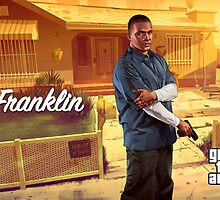 Grand Theft Auto V Franklin Poster by Connor  Foley