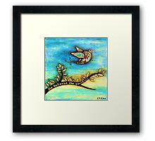 'FLY' - She believed she could. Framed Print