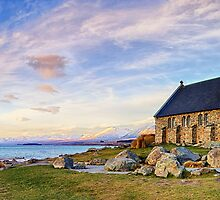 Lake Tekapo - The Good Shepherd by Maxwell Campbell