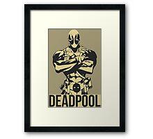 Deadpool Vector Framed Print