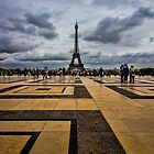 Tiles that lead to the Eiffel Tower by Sven Brogren