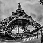 A fisheye view of the Eiffel Tower by Sven Brogren