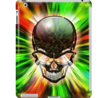 Crystal Skull on Psychedelic Flames iPad Case/Skin