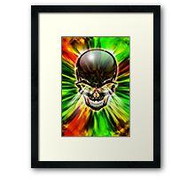 Crystal Skull on Psychedelic Flames Framed Print