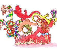 S Is For Fiery Salamander by redqueenself