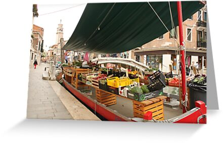 Selling fruits in Venice by Elena Skvortsova