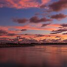south bridge pink skies by cliffordc1