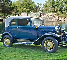1931 Ford Model A - 400 Convertible Sedan III by DaveKoontz