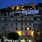 St George Castle at Night, Lisbon, Portugal. by Rob Chiarolli