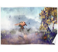 The Dragonfly Garden Poster