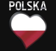 Polska - Polish Flag Heart & Text - Metallic by graphix