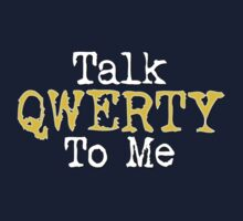 Talk Qwerty To Me - Gold by portiswood