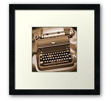 Royal Typewriter Framed Print