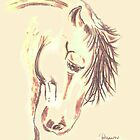 Horse Study 1 by Dawn B Davies-McIninch